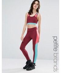 Noisy May Petite Kicks Back Contrast Panel Gym Legging - Mehrfarbig