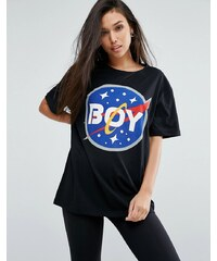 Boy London - T-Shirt mit Space-Logo - Schwarz