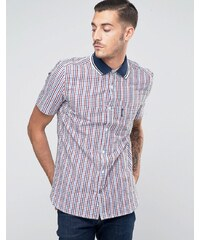 Lambretta Shirt in Gingham with Short Sleeves - Rot