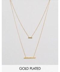 Gorjana - Mave - Halskette mit gehämmertem Doppelanhänger - Gold