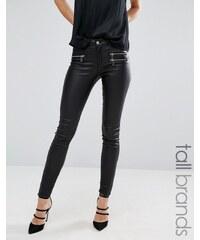 Vero Moda Tall - Jean skinny enduit - Noir