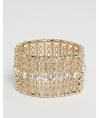 Oasis - Filigranes Stretch-Armband - Gold