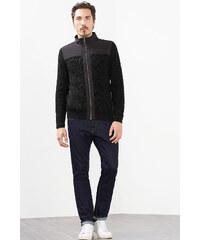 Esprit Cardigan zippé en coton + nylon