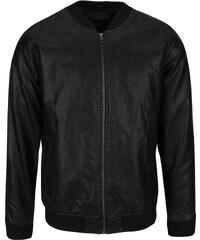 Černá koženková bunda Jack & Jones Rollout