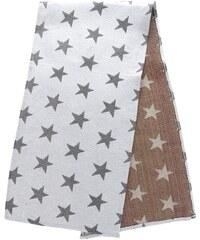 Krémový běhoun s hvězdami Dakls