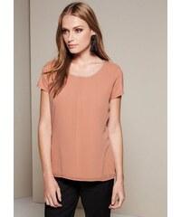 Damen COMMA Edles Shirt im raffinierten Materialmix COMMA rot L (44),L (46),M (40),M (42),S (36),S (38),XS (34),32