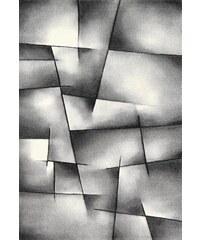 MERINOS Teppich Merinos BRILLIANCE Handgearbeiteter Konturenschnitt grau 11 (B/L: 200x200 cm),2 (B/L: 80x150 cm),3 (B/L: 120x170 cm),4 (B/L: 160x230 cm),6 (B/L: 200x290 cm)