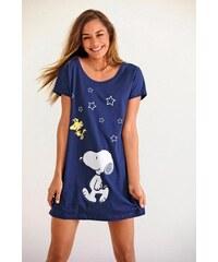 Peanuts Süßes Bigshirt mit Snoopyprint in Minilänge PEANUTS blau 32/34,36/38,40/42,44/46,48/50,52/54,56/58