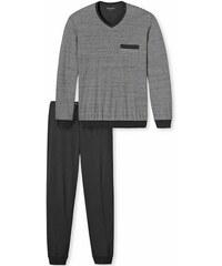 Schiesser Pyjama. Aus 100% Baumwolle. grau 48,50,52,54,56,58,60