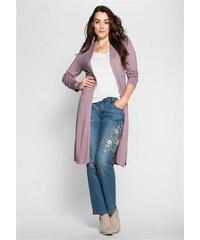 Damen Style Longstrickjacke she rosa 40/42,44/46,48/50,52/54,56/58