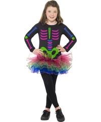 Smiffys Kostým kostra barevná - 10 - 12 roků