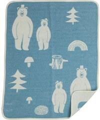 Klippan, Švédsko Dětská deka chenille Together tyrkys 70 x 90 cm Tyrkysová