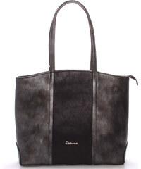 Dámská luxusní kabelka přes rameno grafitová - Delami Yvonne šedá