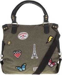 Haily´s Khaki kabelka s našivkami Haily's Kim