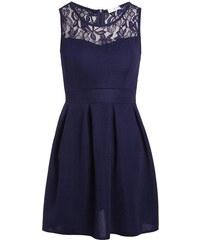 Robe évasée avec dentelle Bleu Elasthanne - Femme Taille 34 - Cache Cache