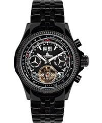 Richtenburg IP, - Armbanduhr aus Edelstahl mit 20 Rubinen - schwarz