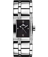 Richtenburg Armbanduhr aus Edelstahl und Rubine stahlfarben und schwarz - stahlfarben