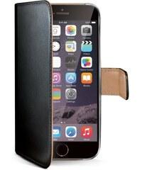 Pouzdro typu kniha Celly Wally pro Apple iPhone 6 Plus, černé WALLY601