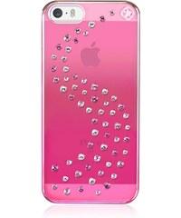 Zadní kryt Bling My Thing Milky Way Pink Metallic Love Mix pro Apple iPhone 5/5S/SE, s krystaly SWAROVSKI + folie SE-MW-MM-LOV