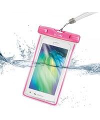 """Univerzální voděodolné pouzdro Celly pro telefony do 5.7"""" - růžové WPCBAGXL02"""