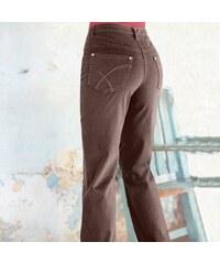 Blancheporte Tvarující kalhoty s 5 kapsami hnědošedá 36