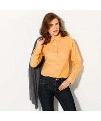 Blancheporte Jednobarevná košilová halenka medová 36