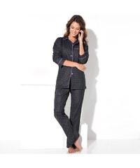 Blancheporte Flanelové pyžamo s potiskem, puntíky černá potisk puntíky 34/36