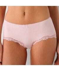 Blancheporte Originální krajkové kalhotky shorty, sada 3 ks bílá+černá+pudrová 36/38