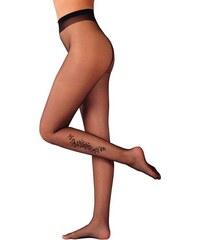 Blancheporte Neprůhledné punčochové kalhoty s imitací tetování, 2 kusy černá 1/2