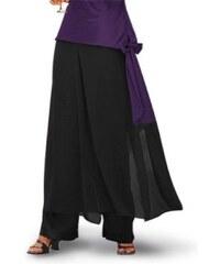 Blancheporte Saténová kalhotová sukně černá 36