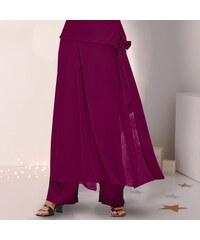 Blancheporte Saténová kalhotová sukně švestková 36