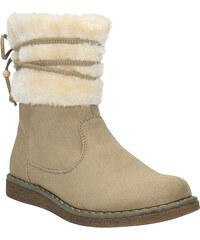 MINI B Dětská zimní obuv s kožíškem