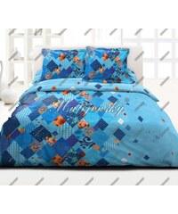 Bavlněné ložní povlečení deluxe Valencia blue 140x200+70x90