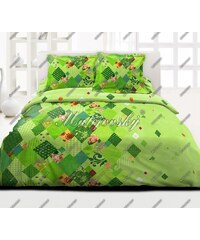 Bavlněné ložní povlečení deluxe Valencia green 140x200+70x90