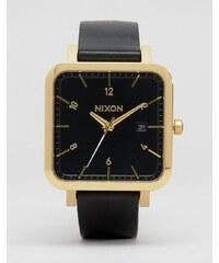 Nixon - Ragnar 36 - Montre en cuir à cadran carré - Noir - Noir
