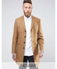 Heart & Dagger Heart and Dagger Woven in England 100% Wool Overcoat - Beige