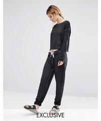 Nocozo - Pantalon de survêtement avec ruban contrastant - Noir