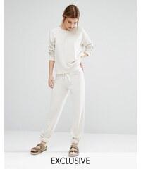 Nocozo - Pantalon de survêtement avec ruban contrastant - Beige