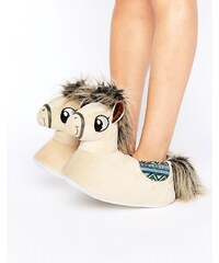 Loungeable - Penny - Chaussons poney - Marron