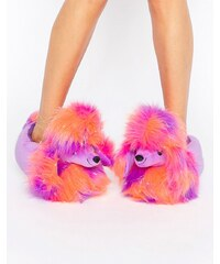 Loungeable - Chaussons caniche disco - Rose