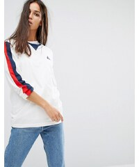 Le Coq Sportif - T-shirt manches longues rétro de qualité supérieure - Blanc