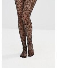 ASOS - Collants en résille crochetée motif losange - Noir