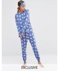 Chelsea Peers - Christmas Naughty Sprouts - Pyjama avec masque dans une boîte cadeau - Violet