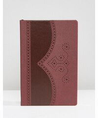 Ted Baker - Blutrotes Notizbuch mit Lochmuster - Rot