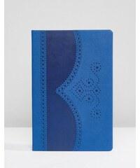 Ted Baker - Blaues Notizbuch mit Lochmuster - Blau