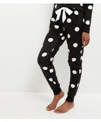 New Look Tall – Schwarze Pyjamahose mit Punktemuster