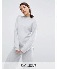 Micha Lounge - Pull à manches oversize - Gris
