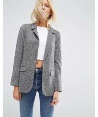 ASOS - Blazer en jersey texturé - Multi