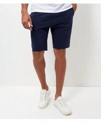 New Look Marineblaue Pikee-Shorts