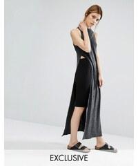 Stitch & Pieces - Pullover mit Maxi-Seitenschlitz - Grau